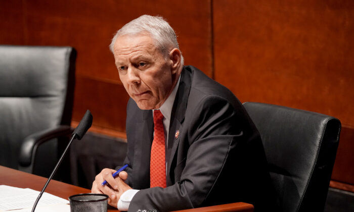 U.S. Rep. Ken Buck (R-Colo.) questions witnesses at a House Judiciary Committee hearing on police brutality and racial profiling in Washington on June 10, 2020. (Greg Nash-Pool/Getty Images)
