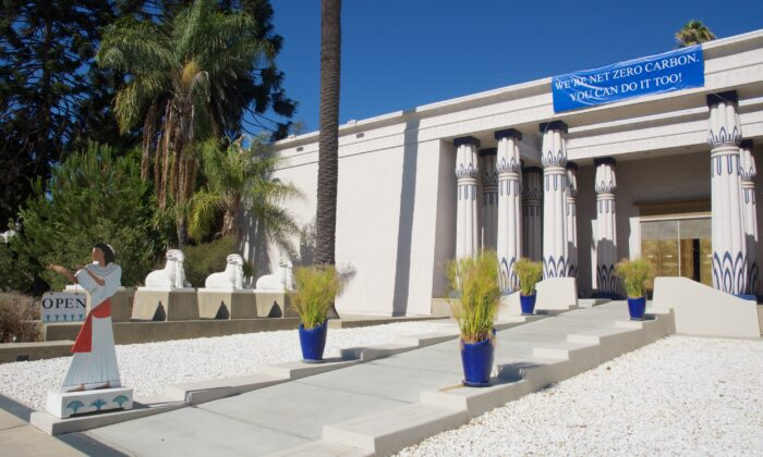 The Rosicrucian Egyptian Museum, part of Rosicrucian Park, in San Jose, Calif. (Courtesy of Karen Gough)