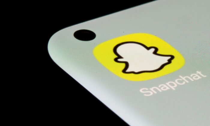 Snapchat app is seen on a smartphone in this illustration taken on July 13, 2021. (Dado Ruvic/Illustration/Reuters)