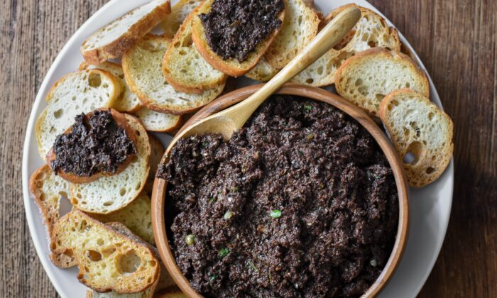Served with toasted baguettes or crackers for dipping, tapenade is a must for a French apéro. (Audrey Le Goff)