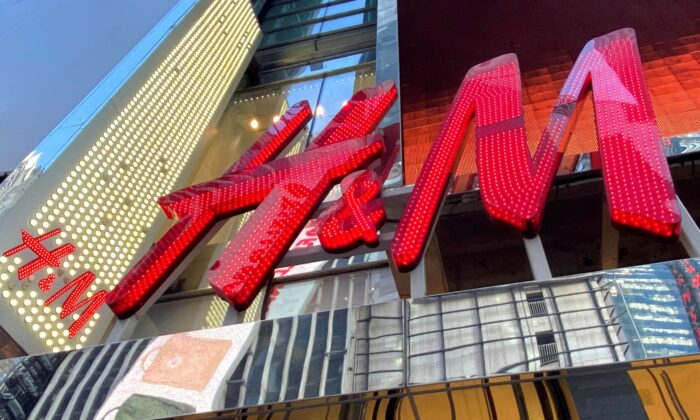 The H&M clothing store is seen in Times Square in Manhattan, N.Y., on Nov. 15, 2019. (Mike Segar/Reuters)