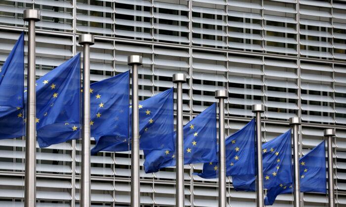 European Union flags flutter outside the EU Commission headquarters in Brussels, Belgium on Oct. 28, 2015. (Francois Lenoir/file/Reuters)
