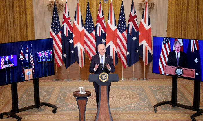 U.S. President Joe Biden speaks during an event in the East Room of the White House in Washington D.C. on Sept. 15, 2021. (Win McNamee/Getty Images)