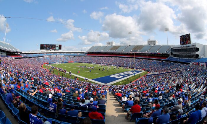 A general view of Highmark Stadium during Buffalo Bills training camp in Orchard Park, N.Y., on July 31, 2021. (Timothy T Ludwig/Getty Images)
