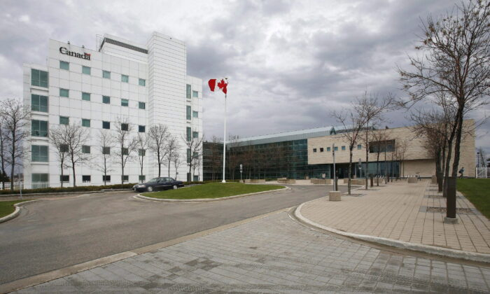 The National Microbiology Laboratory in Winnipeg in a file photo. (The Canadian Press/John Woods)