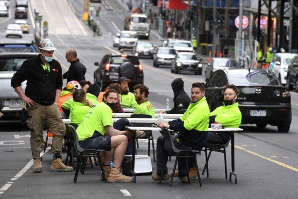 Australia construction worker protest