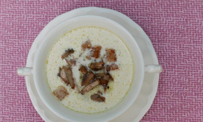 Parmesan soup, creamy but not too heavy, is a delicious way to kick off soup season. (Victoria de la Maza)