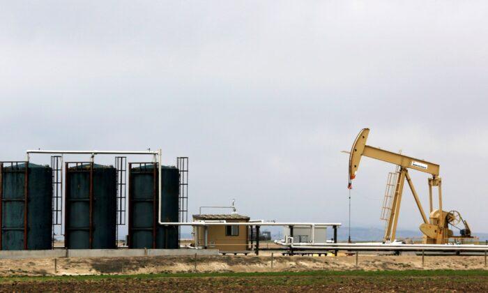 A TORC Oil & Gas pump jack is seen near Granum, Alberta, Canada on May 6, 2020. (Todd Korol/Reuters)