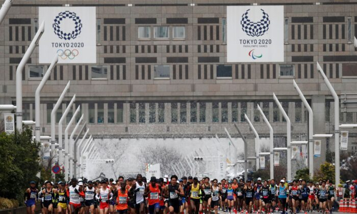 Runners at the start of the Tokyo Marathon in Japan on March 3, 2019. (Issei Kato/Reuters)