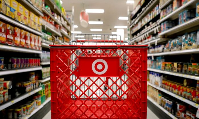 A shopping cart is seen in a Target store in the Brooklyn borough of New York on Nov. 14, 2017. (Brendan McDermid/Reuters)