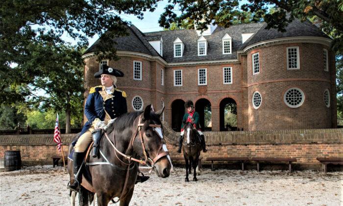 A George Washington re-enactor entertains visitors to Colonial Williamsburg, Va. (Courtesy of Blackhost600/Dreamstime.com)