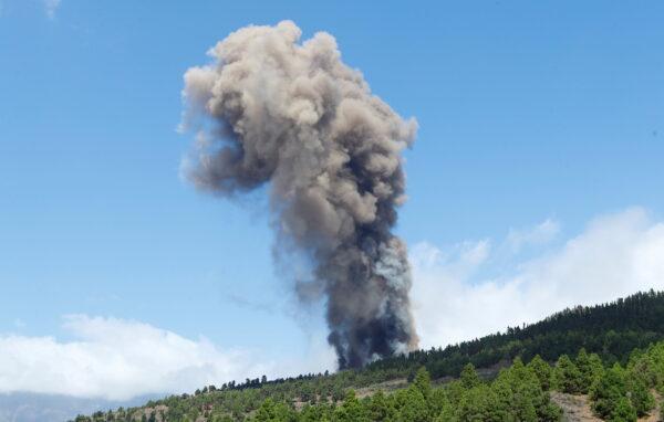 Vocano erupts