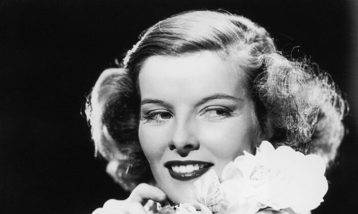 Katharine Hepburn, circa 1945, portrayed glamorous women in the films that first made her famous. (Hulton Archive/Getty Images)
