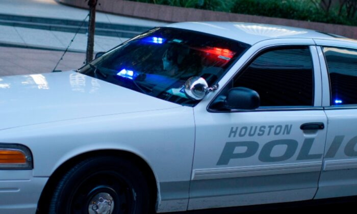 A police car is seen in Houston, Texas, on June 2, 2020. (Mark Felix/AFP via Getty Images)