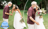 Bride Tears Up When Grandpa She Thought Couldn't Attend Her Wedding Shows Up