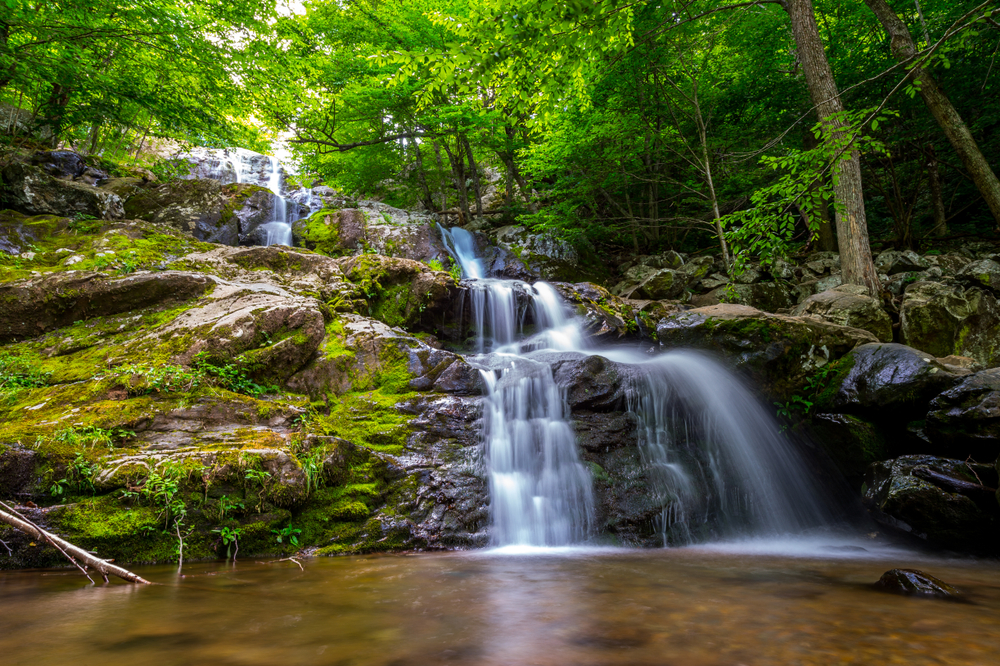 Waterfall,Flowing,In,Shenandoah,National,Park,,Va.
