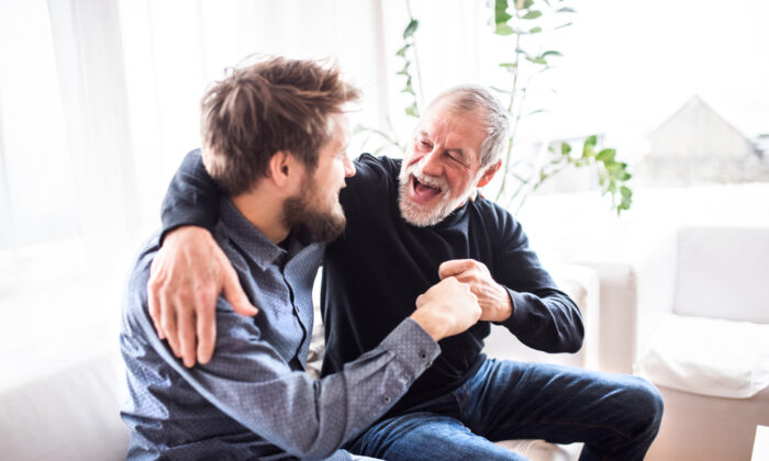 """""""Laugh a lot. It's good for your emotional and physical being,"""" writes George Dunn. (Halfpoint/Shutterstock)"""