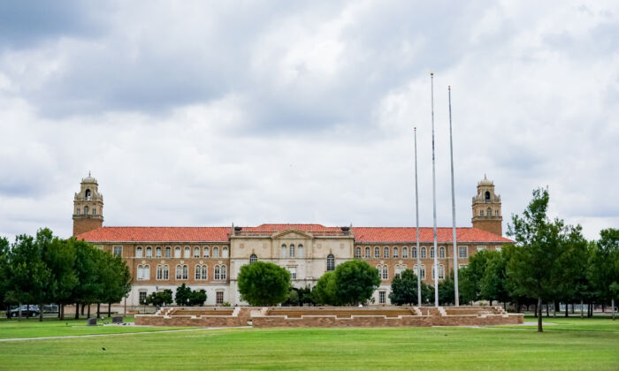 A photo of the Texas Tech University campus in Lubbock, Texas on June 27, 2021 . (Alex Bierens de Haan/Getty Images)