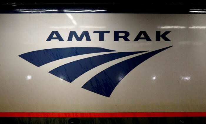 An Amtrak train is parked at the platform inside New York's Penn Station on July 7, 2017. (Brendan McDermid/Reuters)