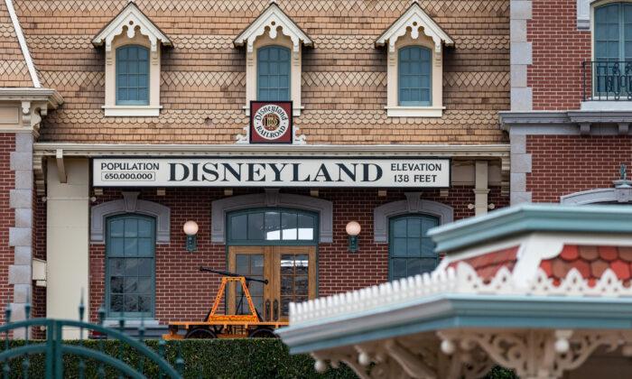 Disneyland theme park in Anaheim, Calif., on Feb. 1, 2021. (John Fredricks/The Epoch Times)