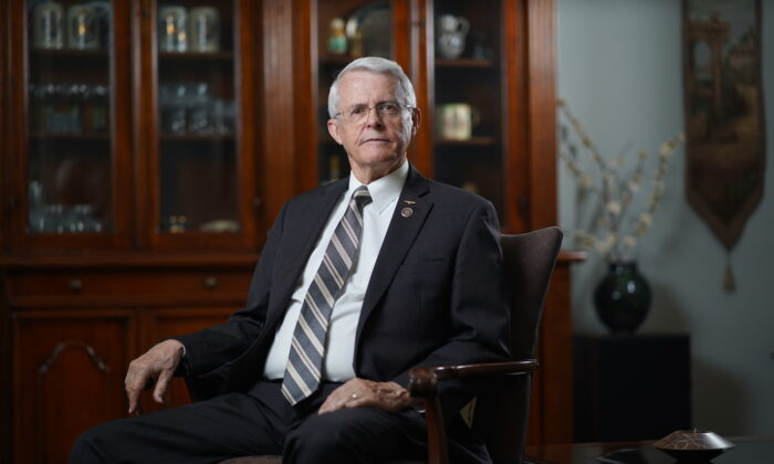 Richard Hayden Black at his residence in Virginia. (Samira Bouaou/The Epoch Times)