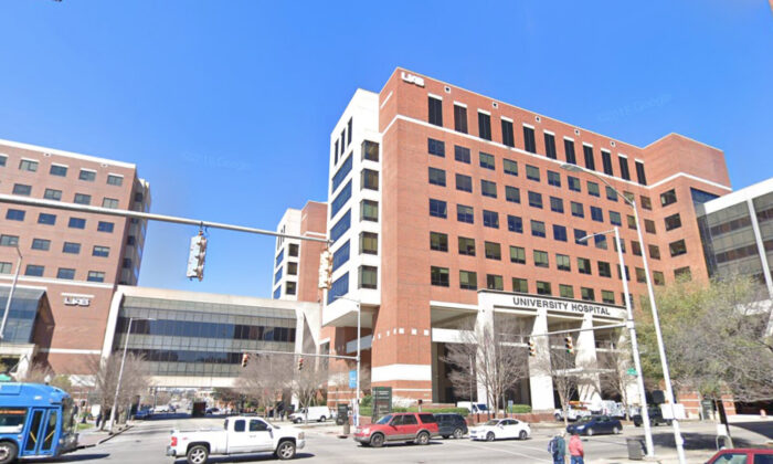 The University of Alabama at Birmingham Hospital in March 2019. (Screenshot by The Epoch Times/ Google Maps)