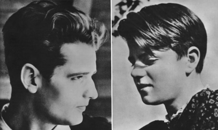 German students Hans Scholl (1918–1943, L) and his sister Sophie (1921–1943), circa 1940. Both were members of the non-violent White Rose resistance group against the Nazis. After their arrest for distributing anti-war leaflets at the University of Munich, they were convicted of high treason and executed by guillotine. (Authenticated News/Archive Photos/Getty Images)