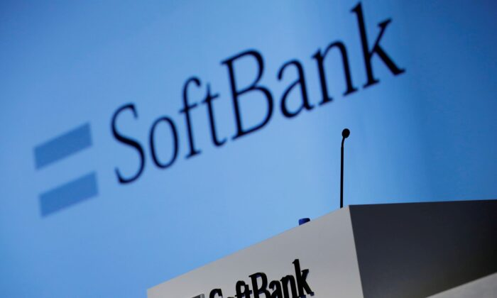 SoftBank Corp.'s logo is pictured at a news conference in Tokyo, Japan, on Feb. 4, 2021. (Kim Kyung-Hoon/Reuters)