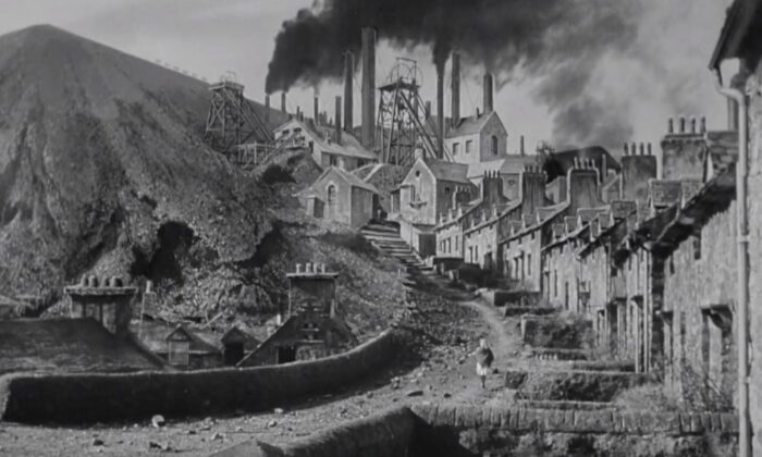 """The opening shot of the film """"How Green Was My Valley"""" paints a dismal image of a once thriving village. (Twentieth Century Fox)"""