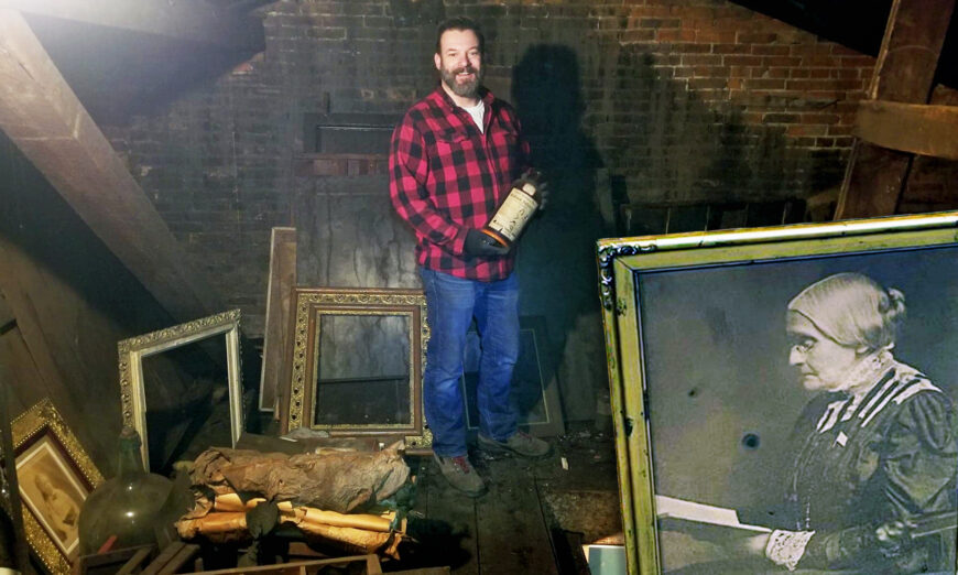Man Buys Old House, Finds Hidden Attic With Treasure Trove Photos From 1800s