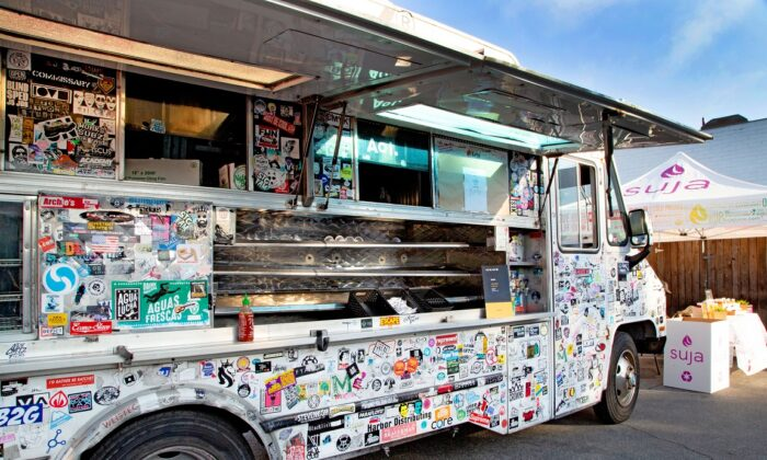 A food truck in Los Angeles on June 19, 2019.  (Samantha Trauben/Getty Images for International Rescue Committee)