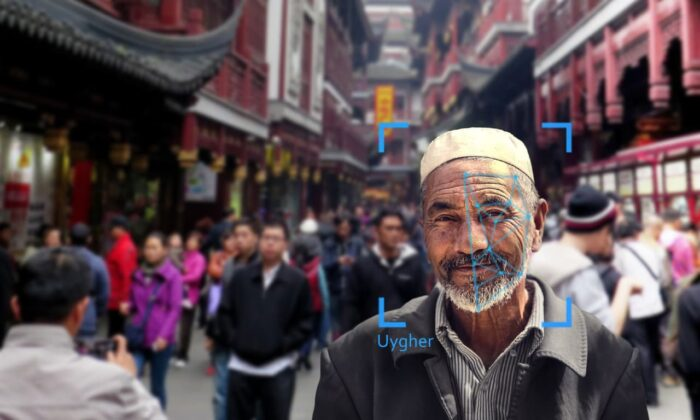 Uyghur face recognition is used in China. (The Epoch Times)