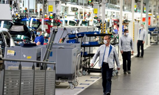 German Industrial Production Slumps on Supply Chain Disruption