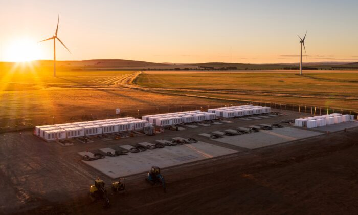 Hornsdale Power Reserve, also known as the Tesla big battery, in Adelaide, Australia in this undated file photo. (AAP Image/Hornsdale Power Reserve)