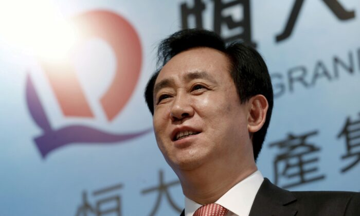 Hui Ka Yan, chairman of Evergrande Real Estate Group Ltd, attends a news conference on annual results in Hong Kong on March 29, 2016. (Bobby Yip/Reuters)