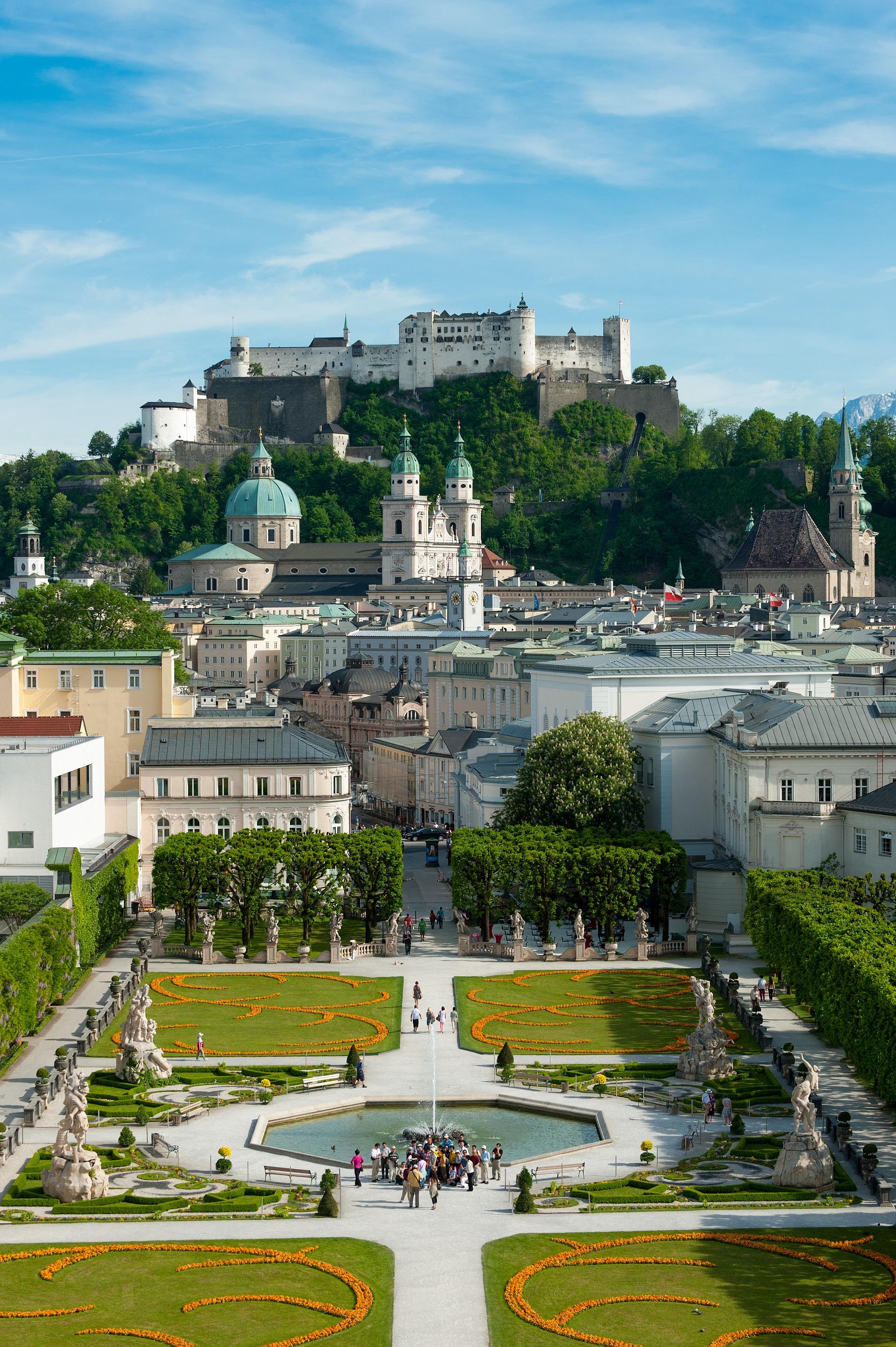 Mirabellgraten mit Blick auf Festung Hohensalzburg
