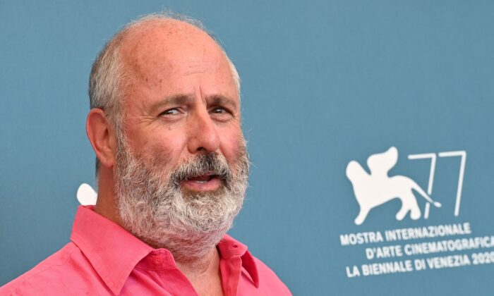 """South-African director Roger Michell attends a photocall for the film """"The Duke"""" presented out of competition on the third day of the 77th Venice Film Festival, on September 4, 2020 at Venice Lido,Italy.(Alberto Pizzoli/AFP via Getty Images)"""