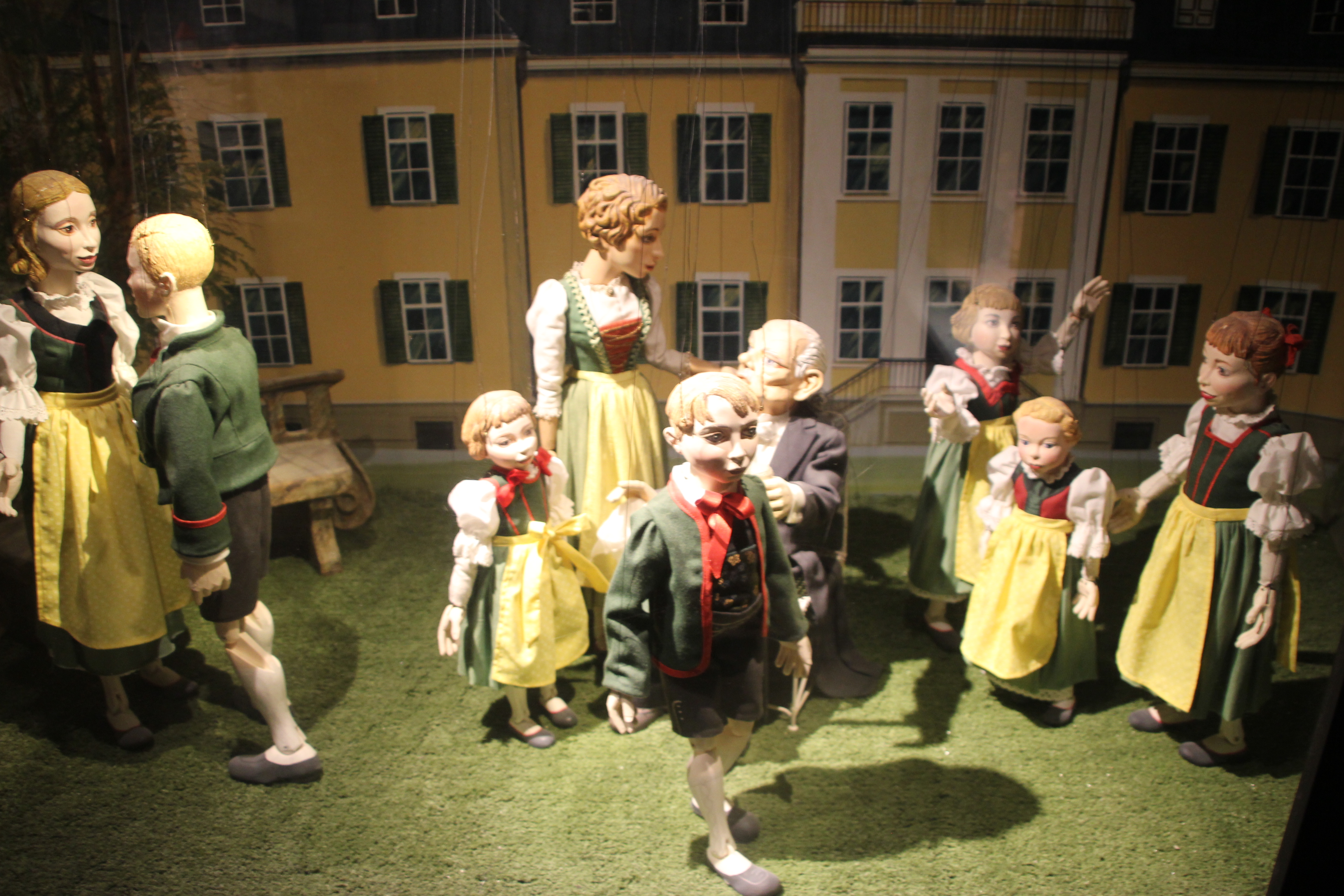 Sound of Music marionettes in the Marionette Museum copyright Wibke Carter