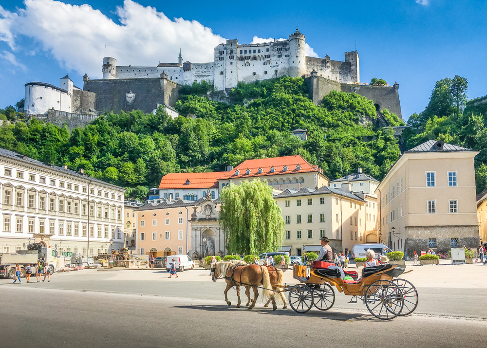 Beautiful,Panoramic,View,Of,The,Historic,City,Of,Salzburg,With
