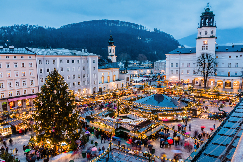 Salzburg,,Austria.,Christmas,Market,In,The,Old,Town,Of,Salzburg.