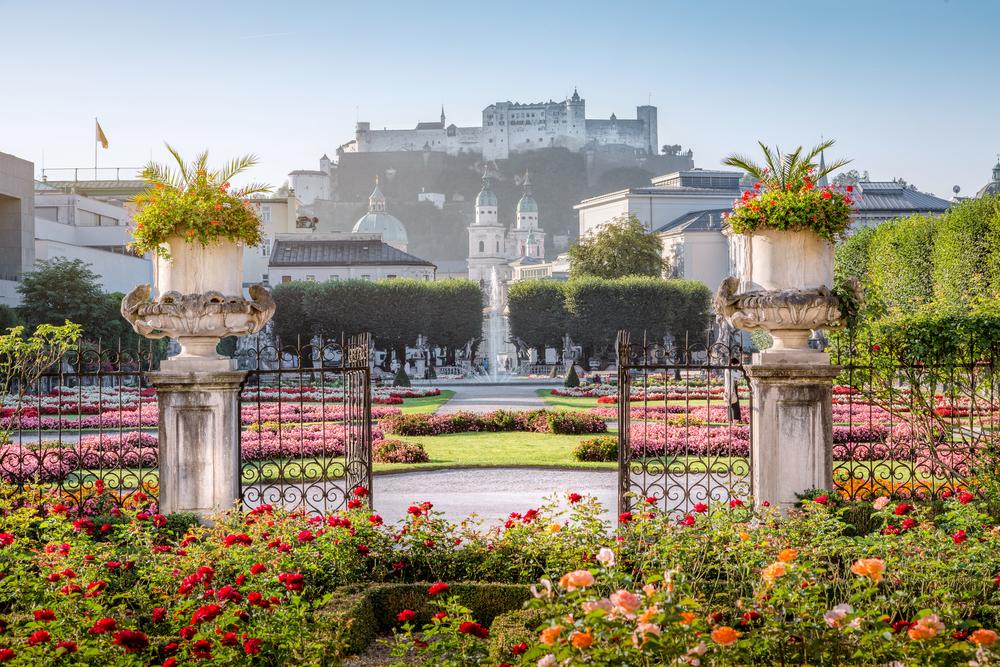 Mirabell,Garden,At,Stadt,Salzburg,In,The,Morning,In,Summer,