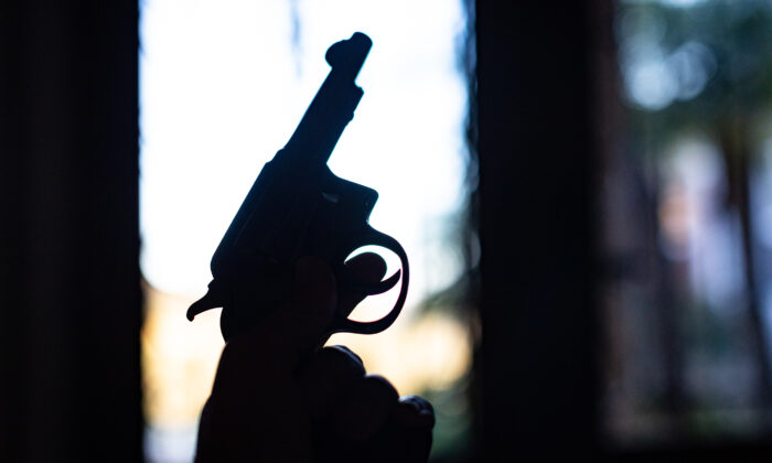 A 32 caliber handgun in Temecula, Calif., on March 27, 2021. (John Fredricks/The Epoch Times)