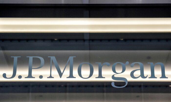 A JPMorgan logo is seen in New York on Jan. 10, 2017. (Stephanie Keith/Reuters)