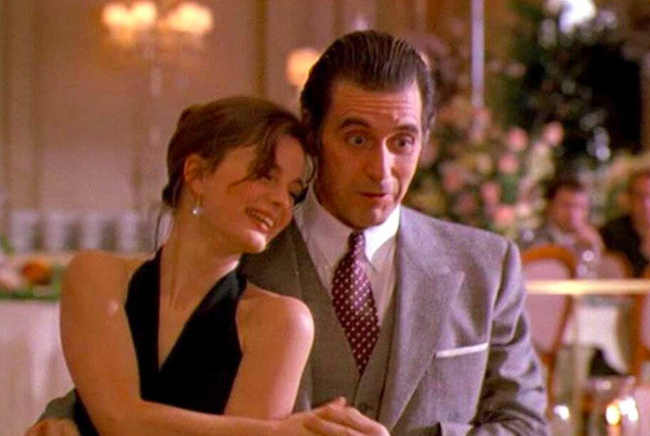man and a woman dancing in SCENT OF A WOMAN