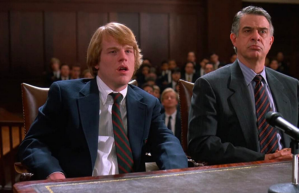man and boy in suits in SCENT OF A WOMAN
