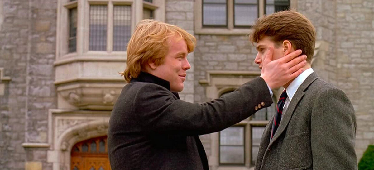 two boys in front of prep school in SCENT OF A WOMAN