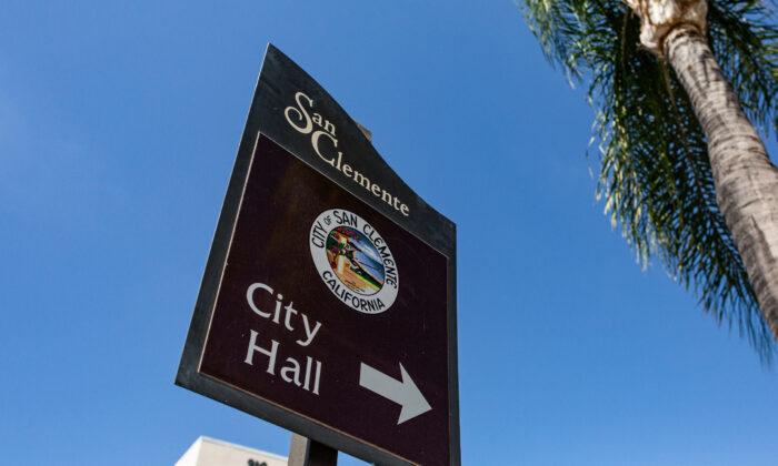 San Clemente City Hall in San Clemente, Calif., on Oct. 20, 2020. (John Fredricks/The Epoch Times)