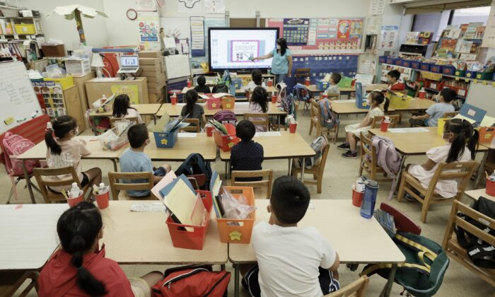 A class at Yung Wing Public School in New York City on July 22, 2021. (Michael Loccisano/Getty Images)