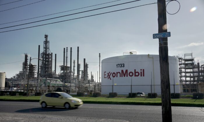 A view of the ExxonMobil Baton Rouge Refinery in Baton Rouge, La., on May 15, 2021. (Kathleen Flynn/Reuters)