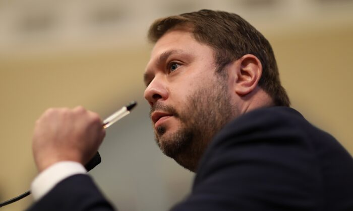 Rep. Ruben Gallego (D-Ariz.) is seen in Washington in a file photograph. (Leah Millis/Pool/Getty Images)